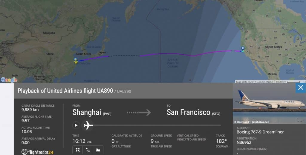 Shanghai-San-Francisco-UA890-United-flightradar