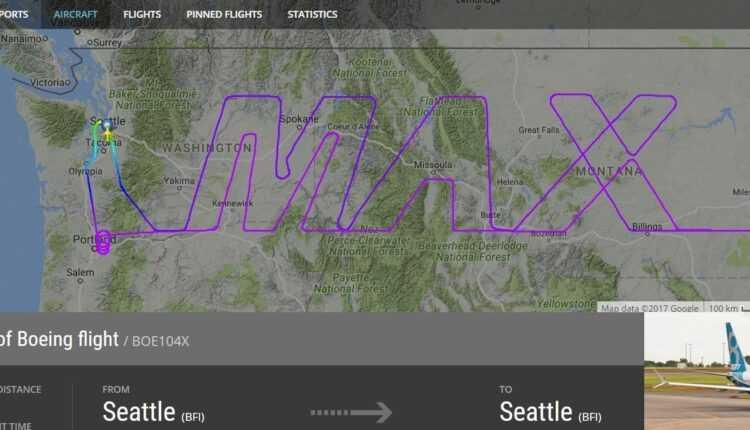 "Boeing 737-8 MAX a scris ""MAX"""