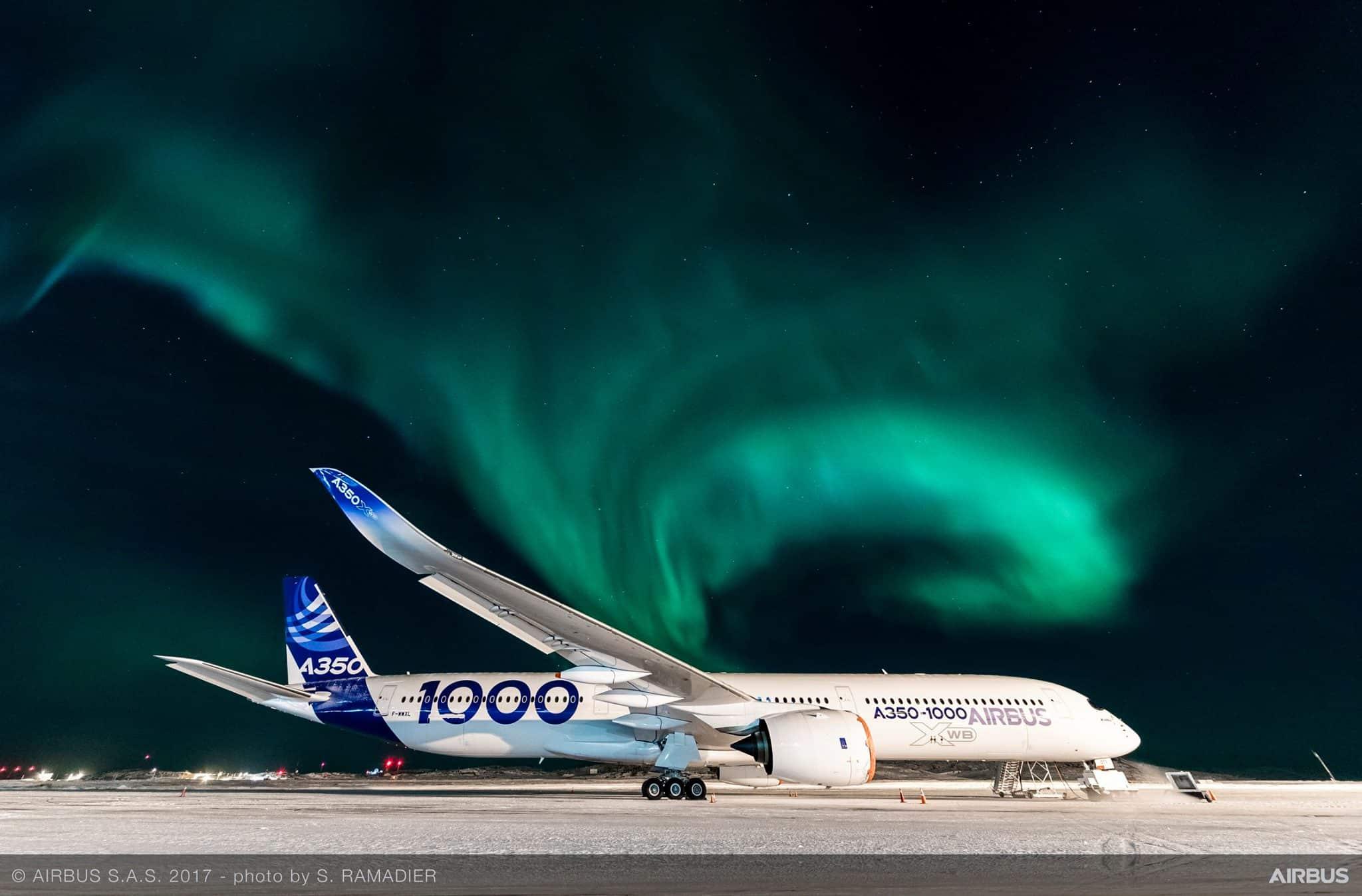 Airbus A350-1000-ışıklar-Kuzey