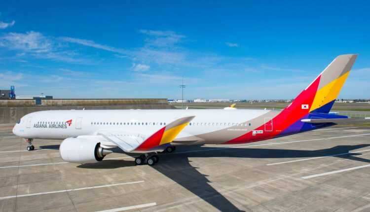 Primul Airbus A350-900 Asiana Airlines a fost vopsit