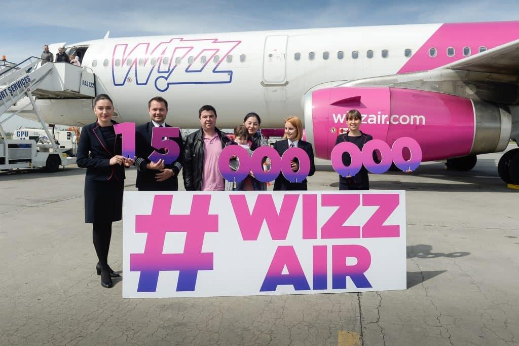 Bucareste 15 milhões de passageiros-Wizz-Air