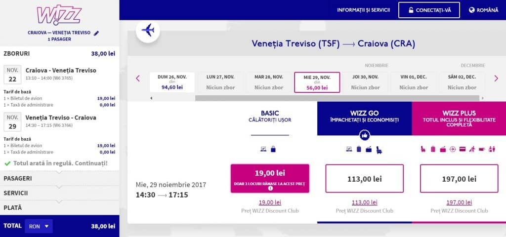 Craiova-Venetia-Wizz-Air