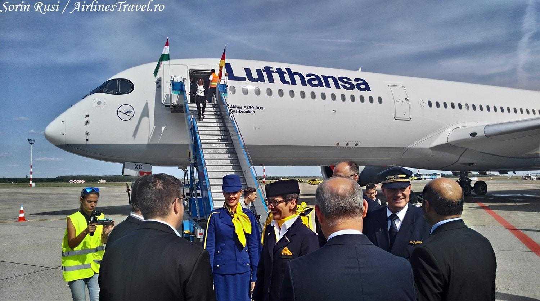 Lufthansa Airbus A350-Budapest