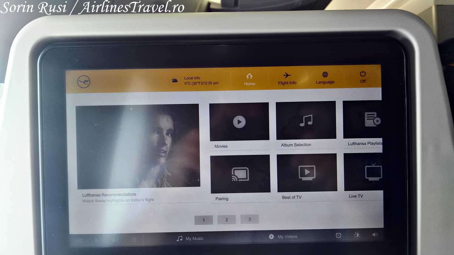 display multimedia-A350-Lufthansa