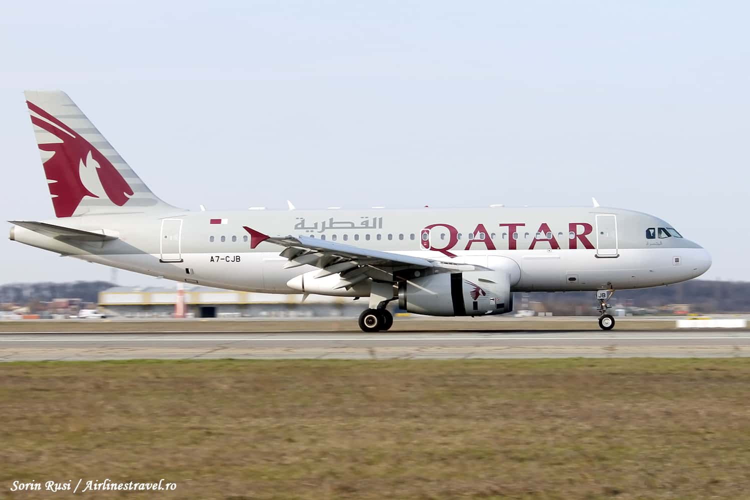 A7-CJB-Airbus A319-Qatar Airways