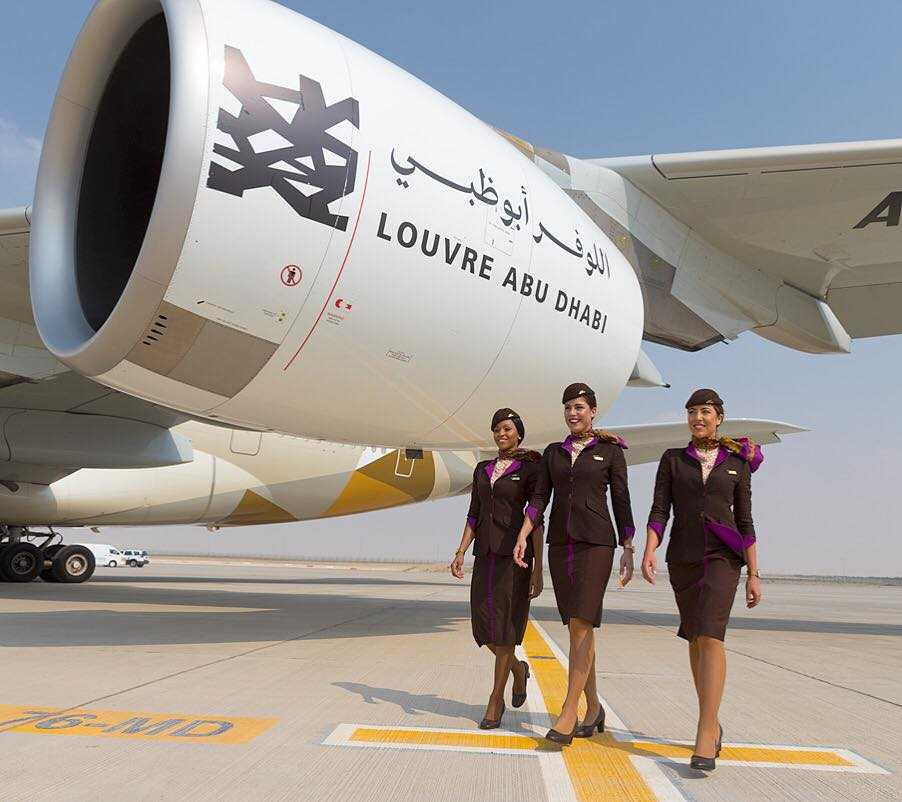 A380-Etihad, Abu Dhabi Louvre
