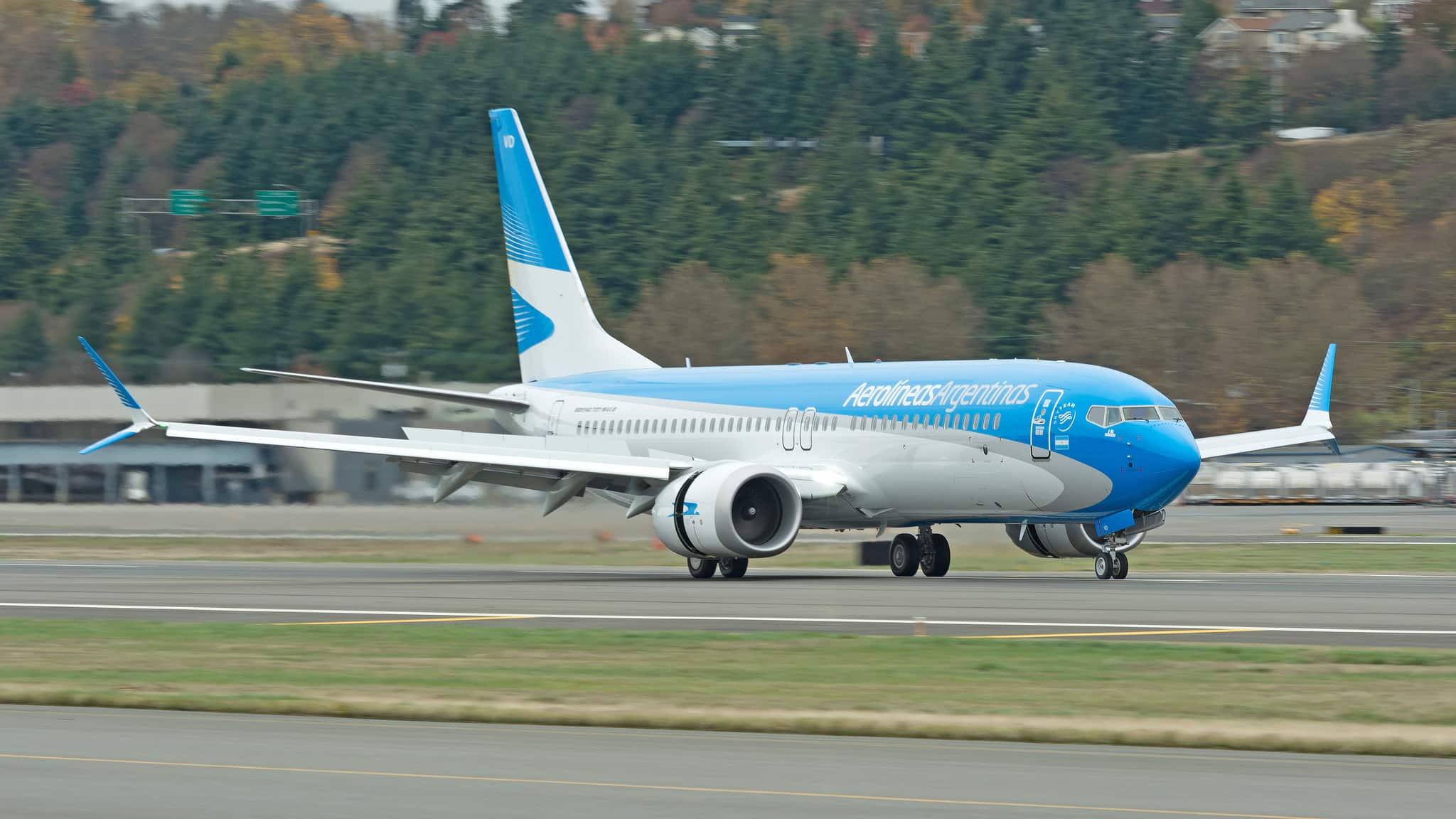 Se entregó el primer Boeing 737 MAX 8 Aerolíneas Argentinas