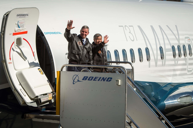 Boeing 737 MAX 7 sul primo volo