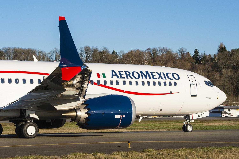 Aeromexico AMX 1st MAX B2 Takeoff