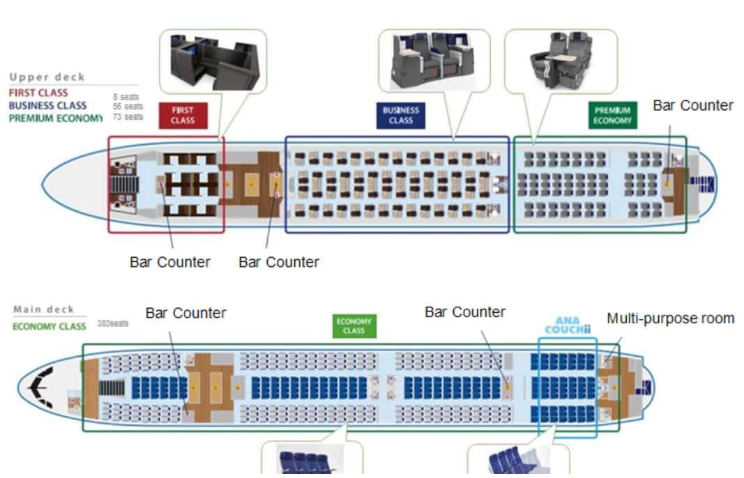 configuración de A380-ANA