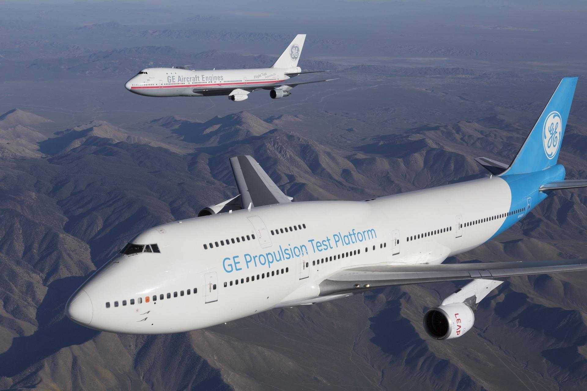Motor General Electric en Boeing 747