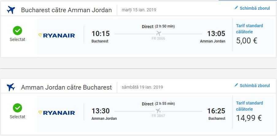 Bucarest Amman-RYANAIR-20 EURO
