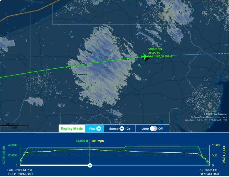velocità-record boeing-787 Virgin Atlantic