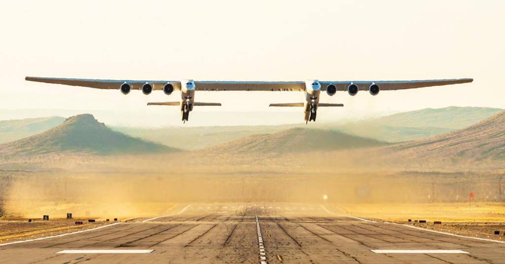 первый рейс Stratolaunch