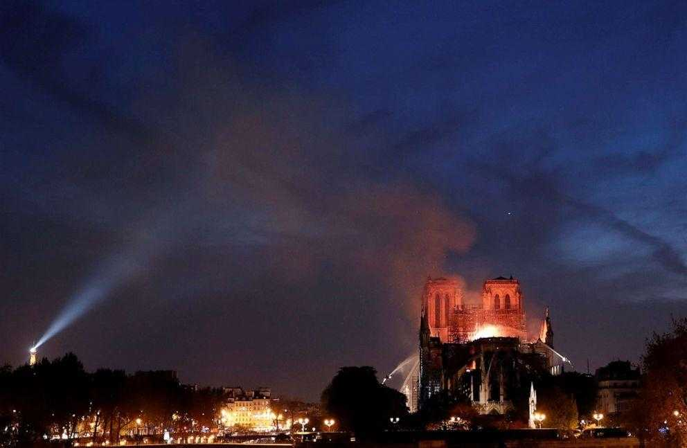 cathedral, Notre-Dame-paris-in-flames