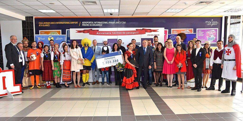 1 millones de pasajeros-aeropuerto-Cluj