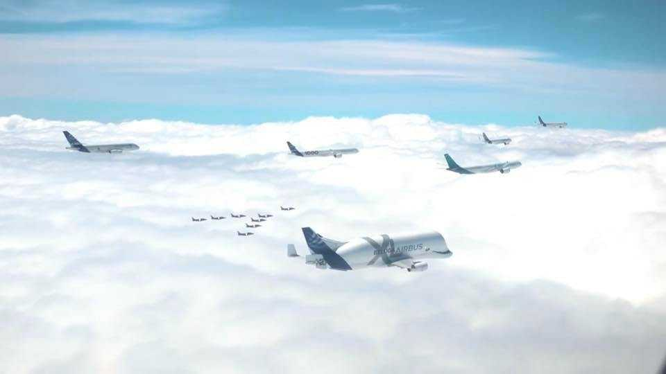 50-year-Airbus-aircraft formation
