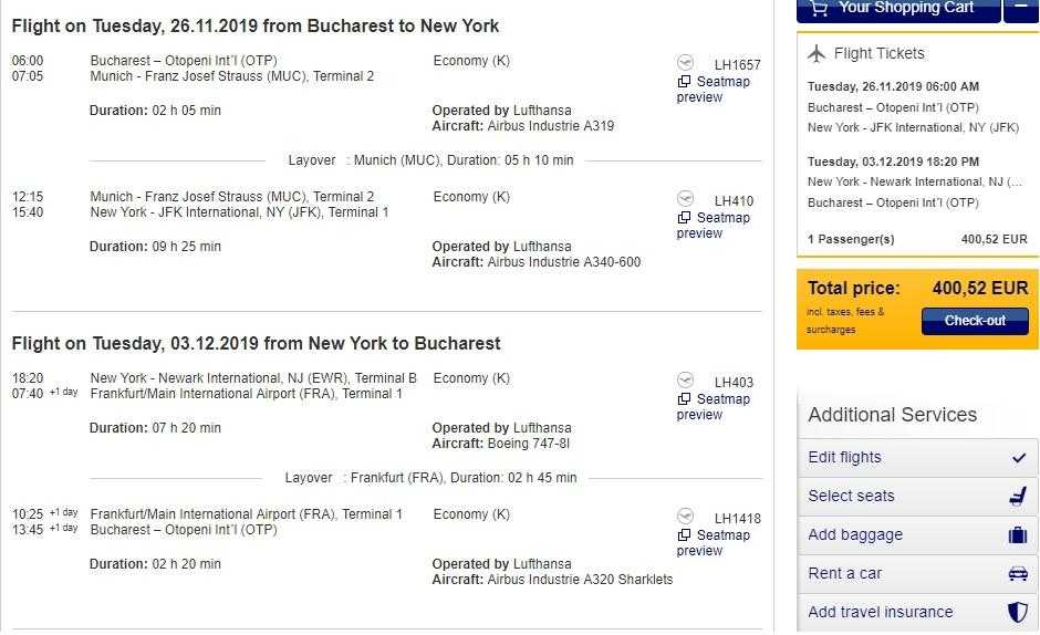 Bucharest-new-york-400-Euro-lufthansa