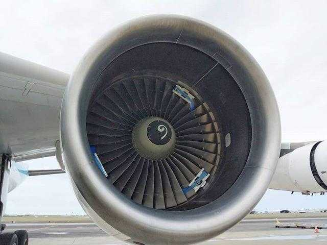 Airbus a340-300-motor blocked