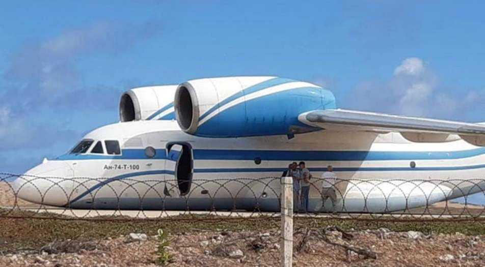 Antonov ans 74-atterrissage sans train d'atterrissage-1