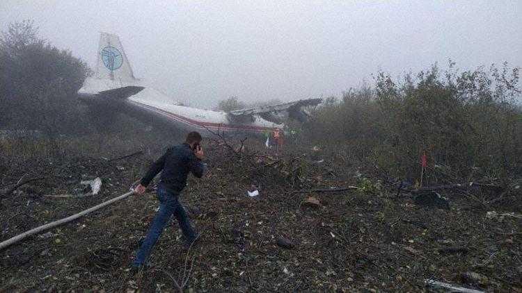 Antonov-an12-ur-CAH-crollato-Leopoli-foresta