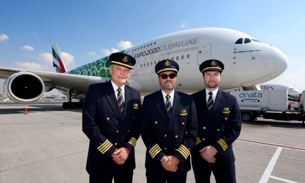 pilotlar a380 dubai airshow emirlikleri 2019