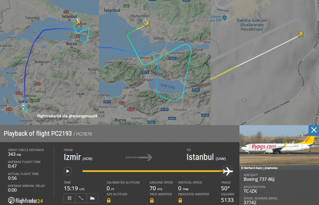 Accidente de aviación en Estambul