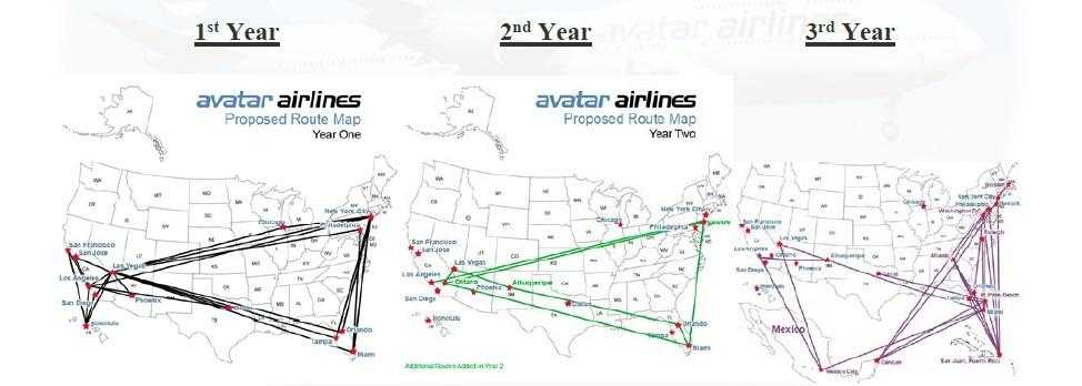 avatar airlines routes