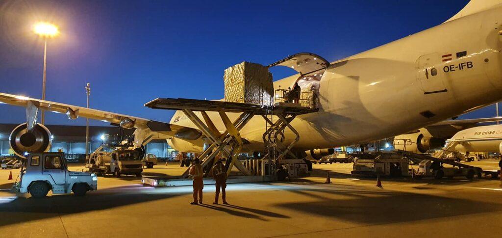 5-million-masks, the Boeing 747-400, Belgium-3