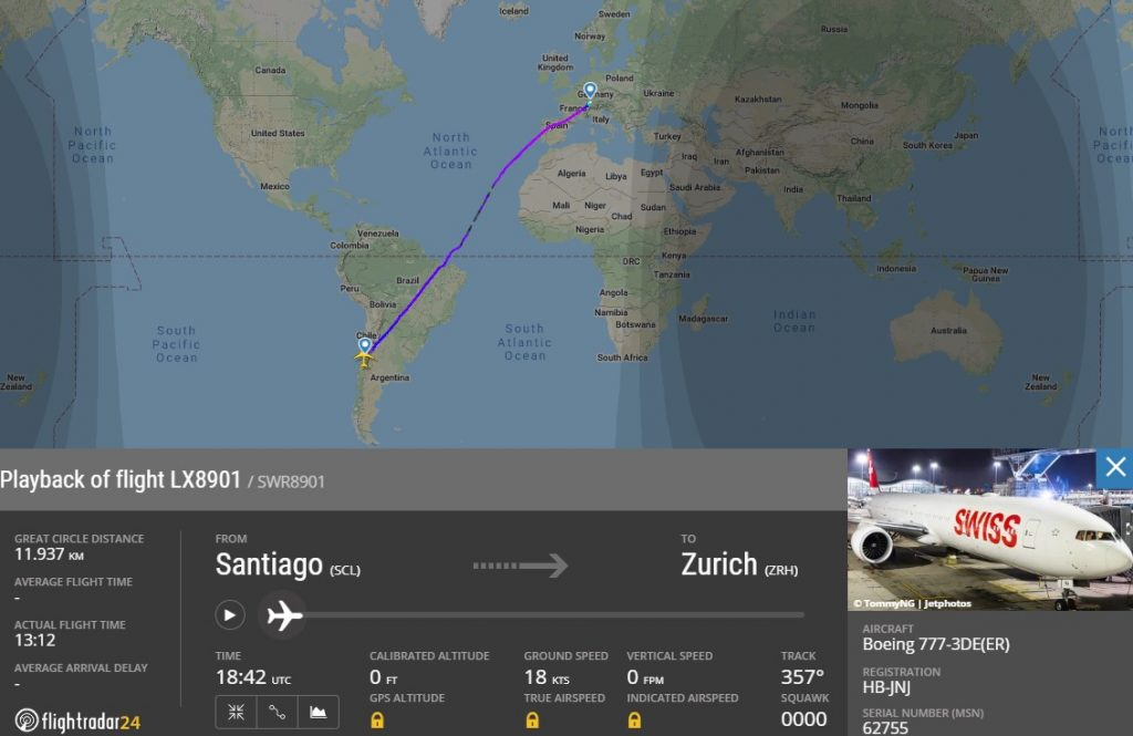 SWISS has made the longest flight in the company's history