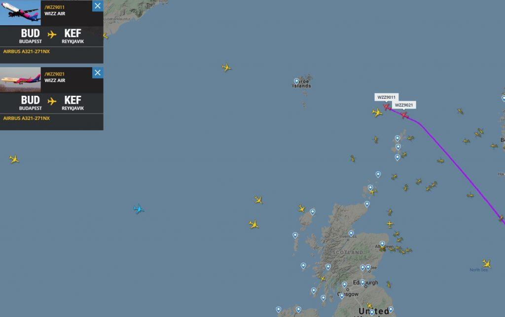 2 Wizz Air-vliegtuigen vliegen naar de Verenigde Staten en Canada