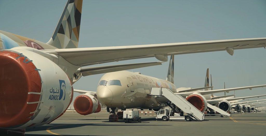 manutenção, frota-Etihad-Airways-pandêmica-covid-19