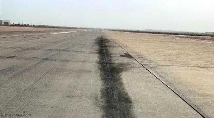 The engines of the A320 hit the runway on the first landing attempt.
