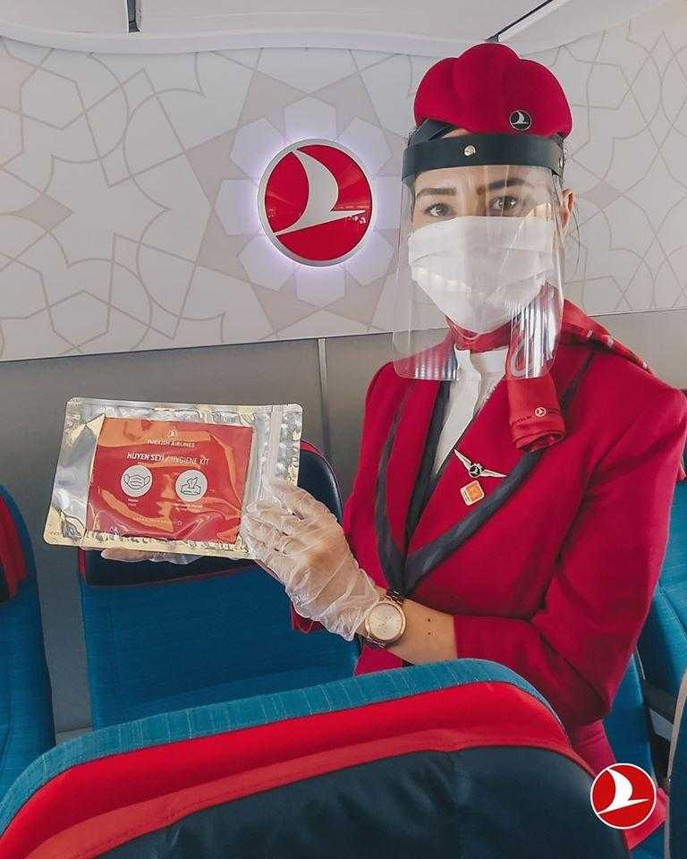turkish airlines crew and hygiene kit