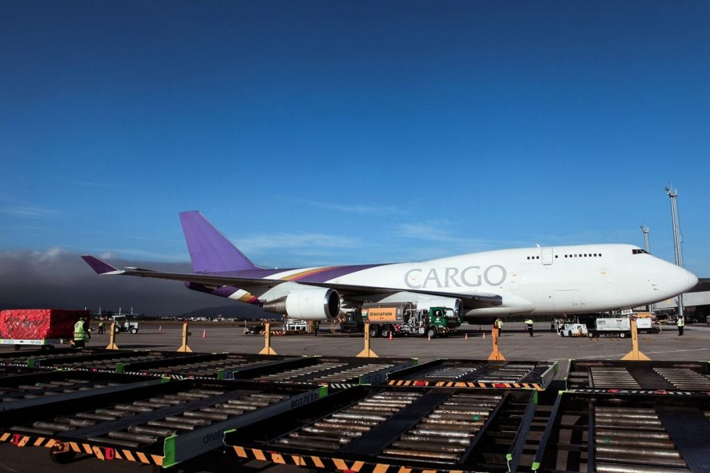 The Boeing 747-400F (ER-BAG) Terra Avia landed in Brazil