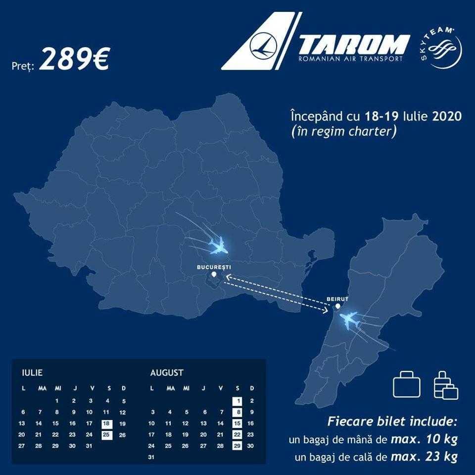 Boekarest - Beiroet met TAROM