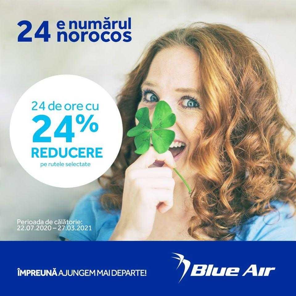 Promoção Blue Air: 24% de desconto por 24 horas