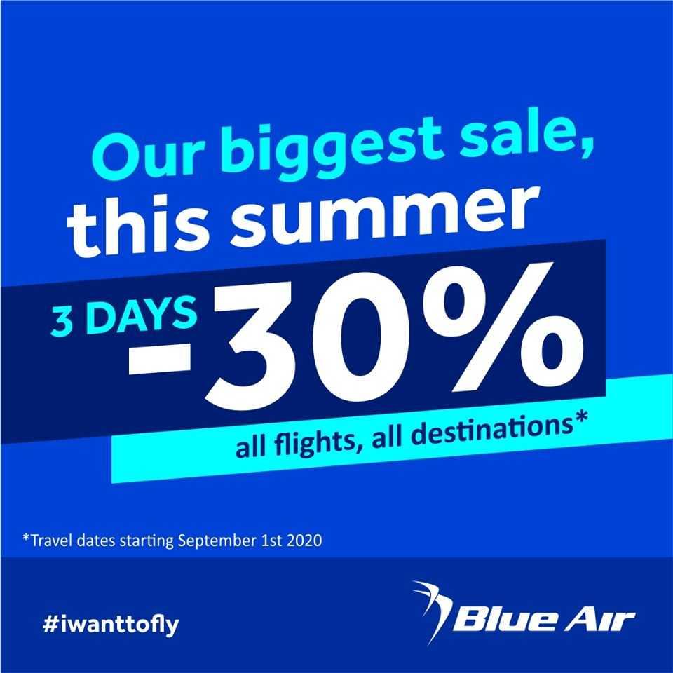 Blue Air'de en büyük yaz indirimi