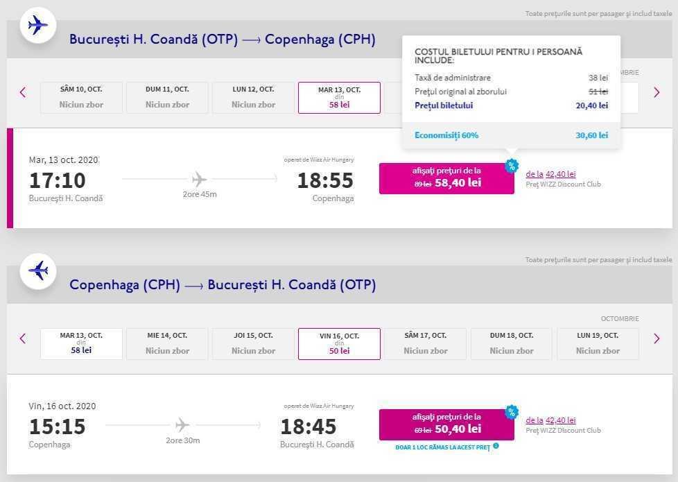 60% de descuento en una serie de vuelos + Wizz FLEX a 1 EURO